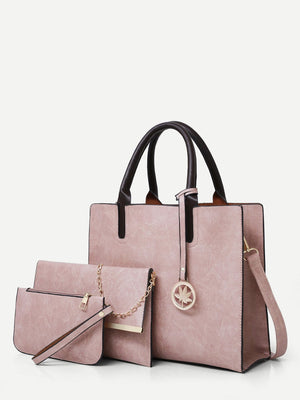 Bags For Women - Tote Bag With 2pcs Clutch