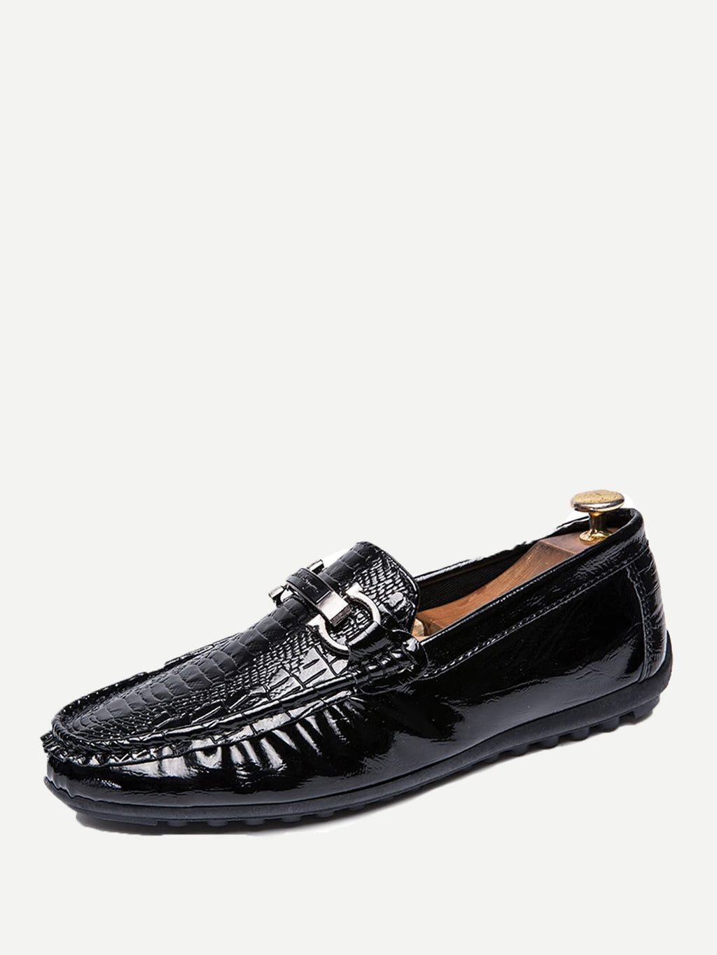 Men's Casual Shoes - Croc Embossed Loafers