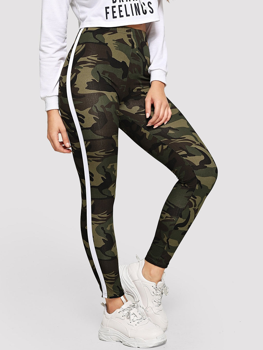 Leggings - Striped Tape Side Camo