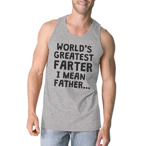 Workout Tank Tops - Farter Father Mens Super Cute Fathers Day Sleeveless Top Best Gift