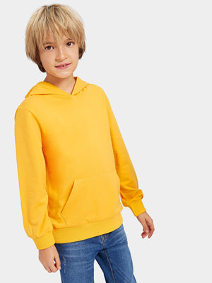 Toddler Boy T-Shirts - Plain Hooded Sweatshirt