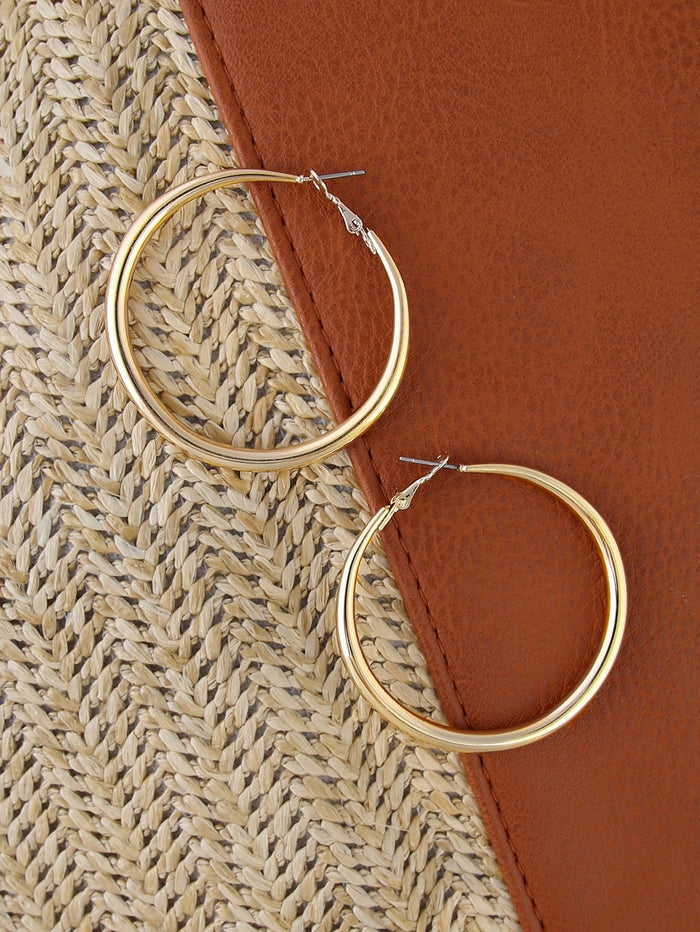 Earrings - Medium Sized Gold Hoop Earrings