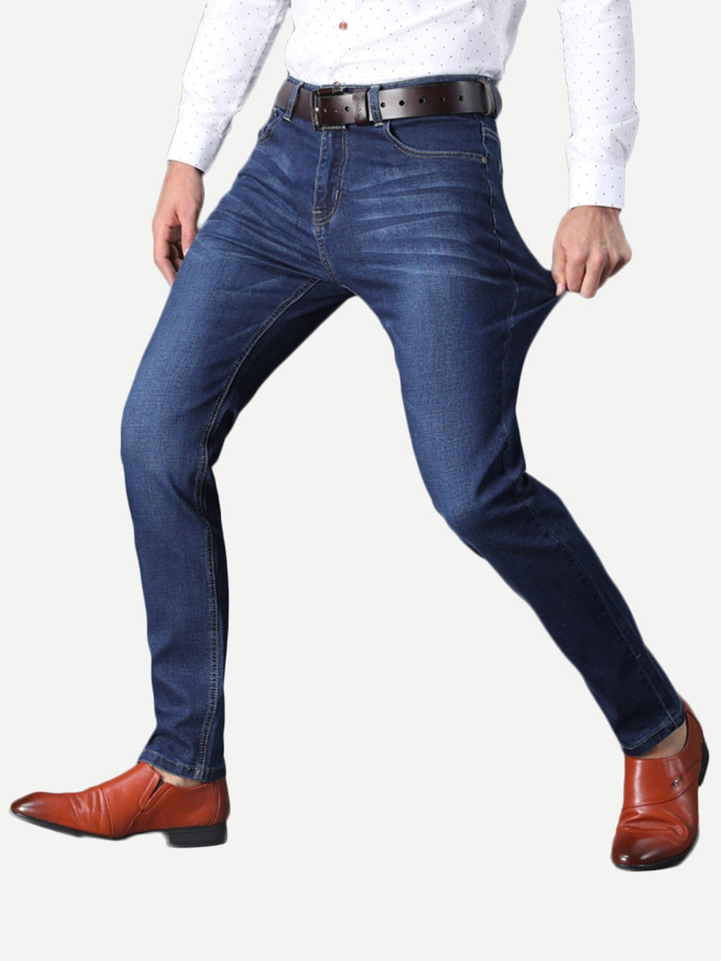 Men's Denim - Washed Straight Jeans