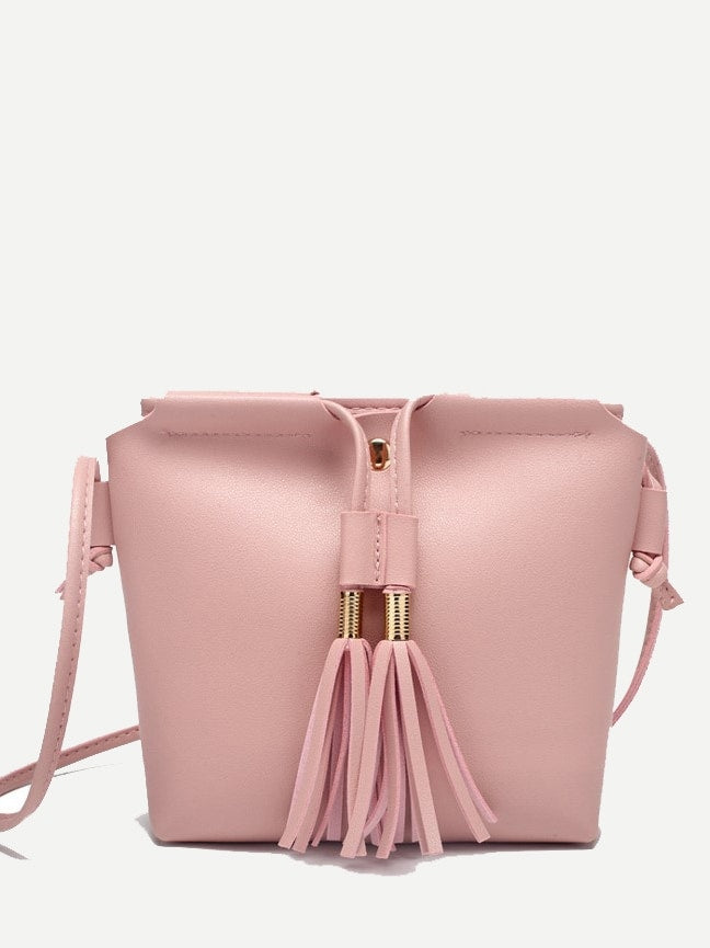 Work Bags - Tassel Detail Crossbody Bag