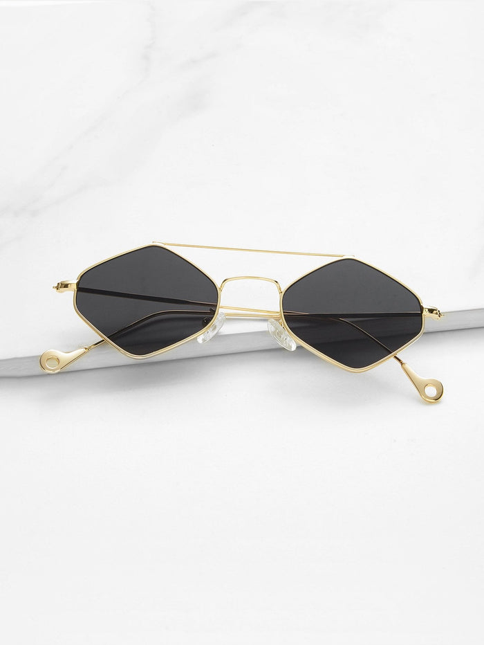 Cheap Sunglasses - Double Bridge Diamond Sunglasses