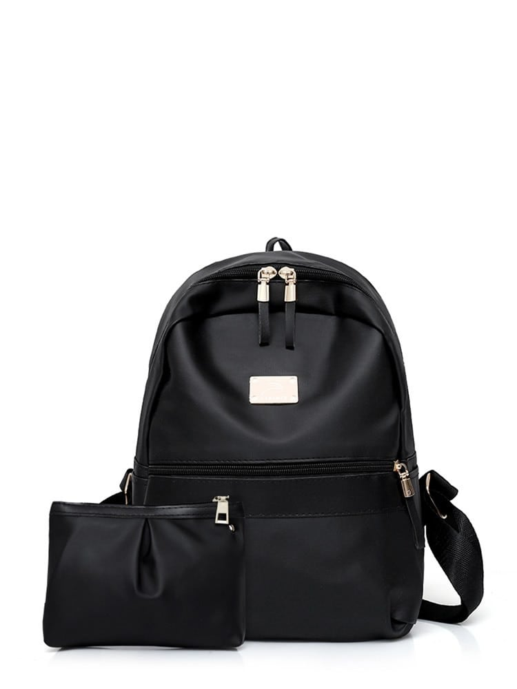 Backpacks For Girls - Metail Detail Backpack With Clutch