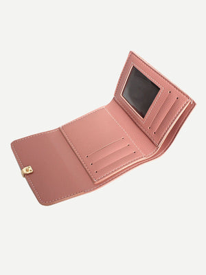 Wallets For Women - Metal Detail PU Wallet