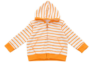 hoodie in orange marseille stripe