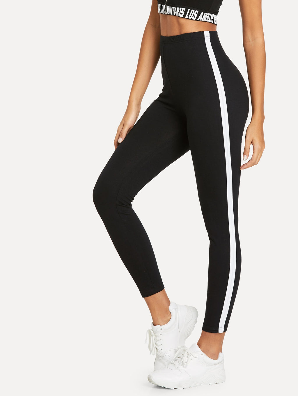 Leggings - Striped Tape Side