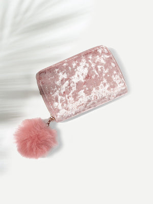 Ladies Purse - Pom Pom Detail Purse Bag