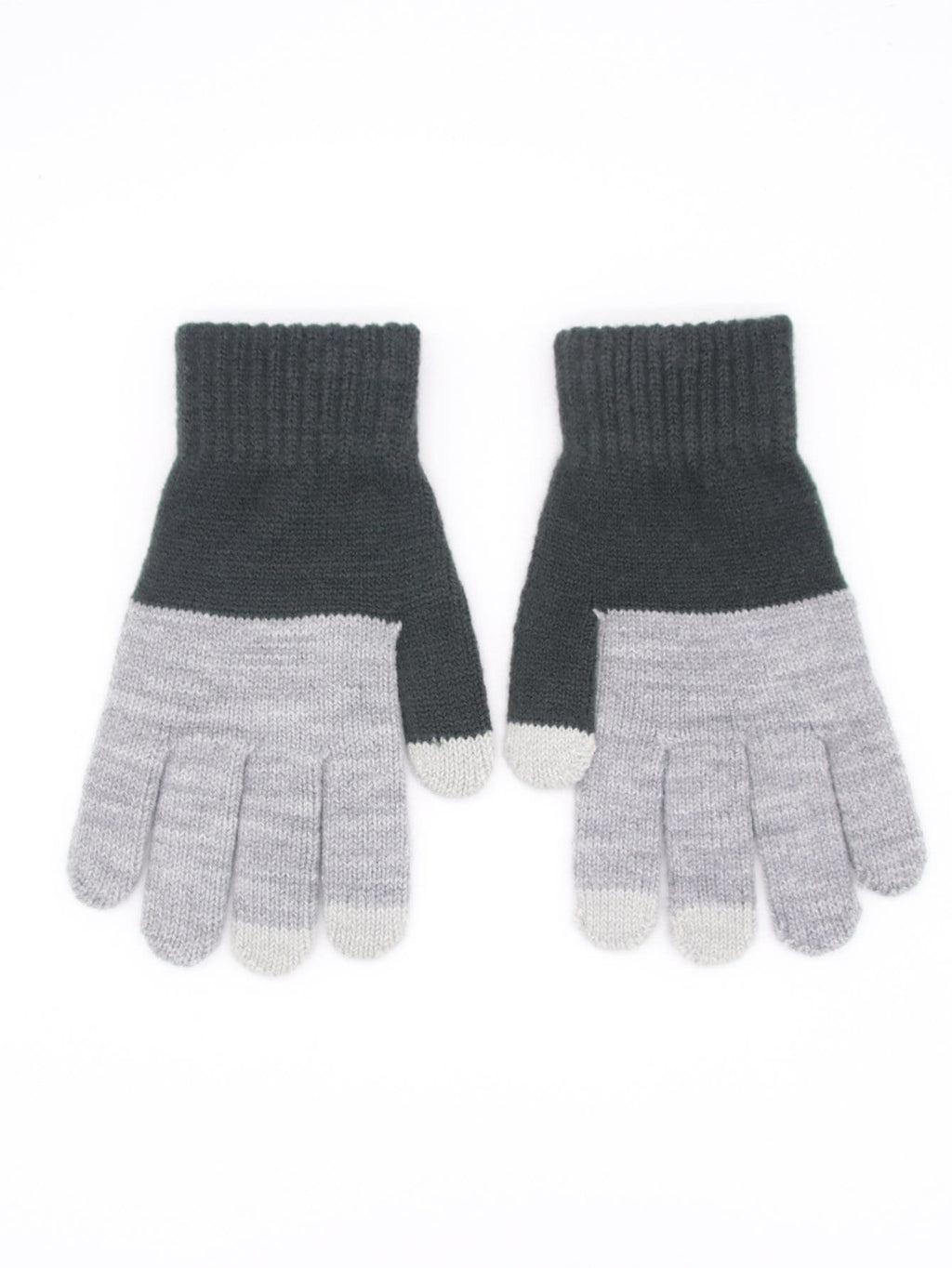 Men's Gloves - Two Tone Cable Knit Gloves