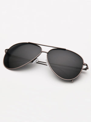 Driving Sunglasses - Men Double Bridge Aviator Sunglasses