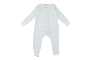 Toddler Boy Jumpsuits - long romper in blue squares