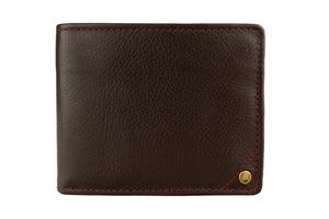 Best Leather Wallets - Hidesign Angle Stitch Leather Multi-Compartment Leather Wallet