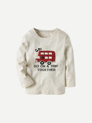 Toddler Boy T-Shirts - Letter Print Tee