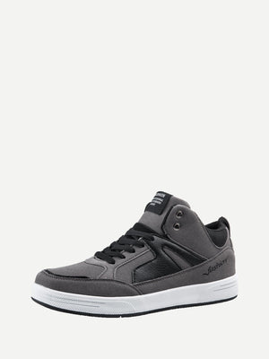 Men's Shoes - PU Panel Lace Up Sneakers
