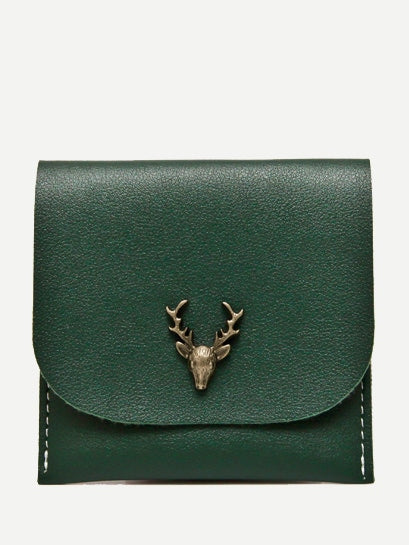 Wristlets - Metal Deer PU Wallet