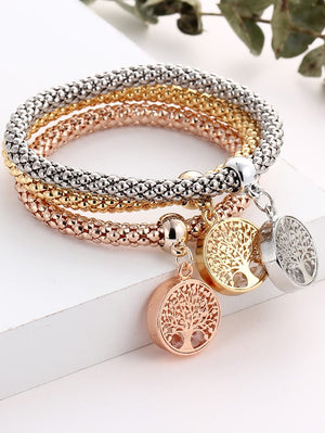 Bracelets For Women - Tree Shaped Charm Bracelet Set
