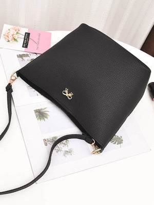 Bags For Women - Metal Bow Detail PU Combination Bag