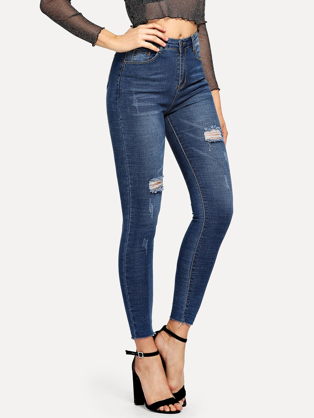 Ripped Jeans For Women - Skinny Jeans