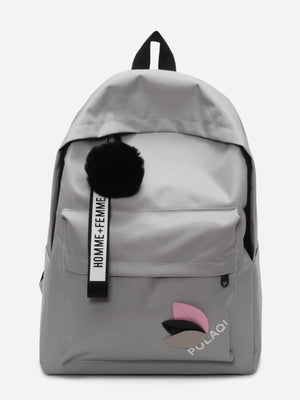 Bags For Women - Pom Pom Decor Backpack