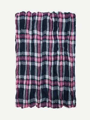 Scarves For Women - Gingham Pattern Scarf