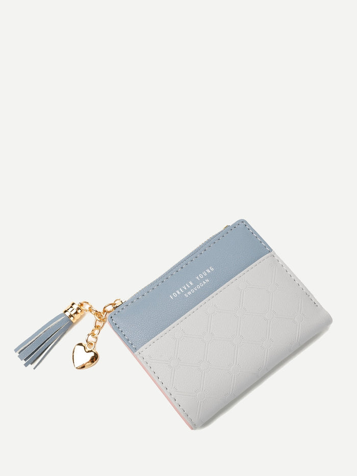 Wallets For Women - Two Tone Tassel Decor Purse