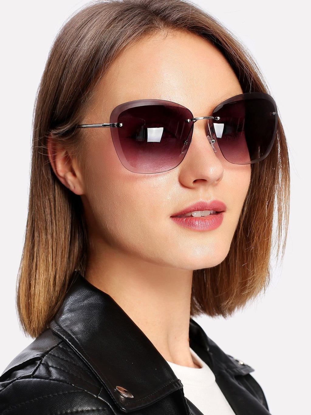 Sunglasses For Women - Rimless Tinted Lens Sunglasses