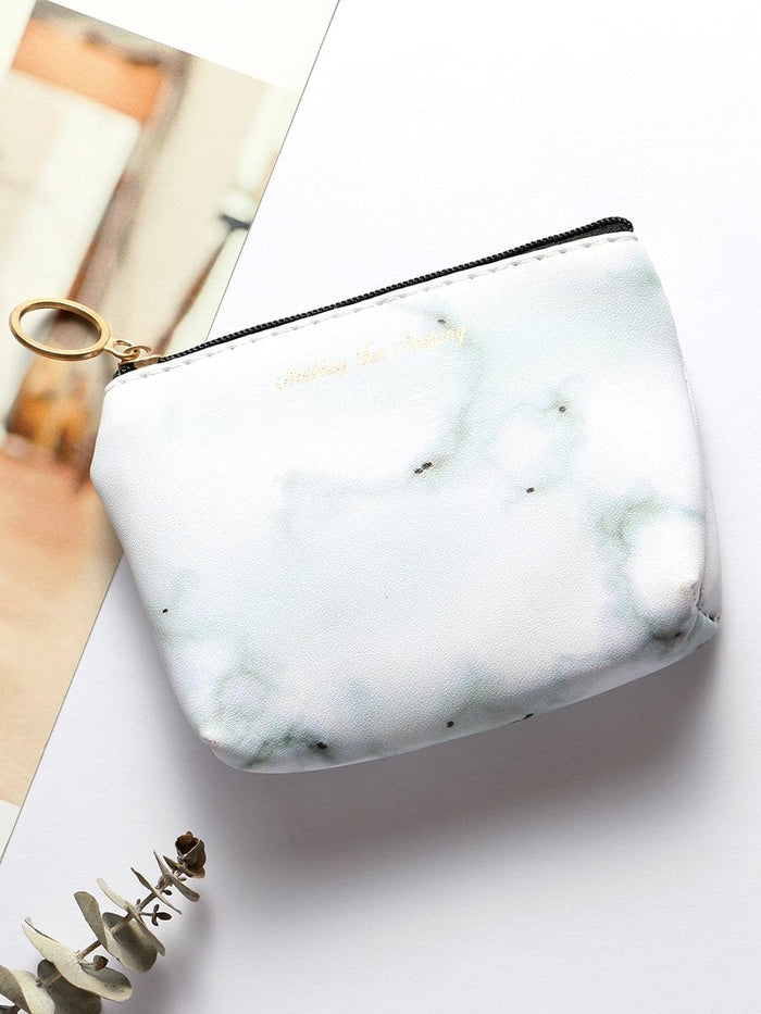 Wallets For Women - Marble Pattern Print Coin Purse