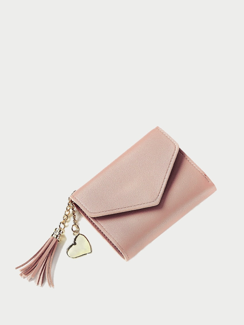 Wallets For Women - Tassel Decor Fold Over Wallet
