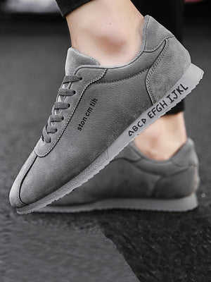 Casual Shoes For Training - Men Lace-up Suede Sneakers