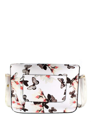 Handbags - Flower Printed Crossbody Bag