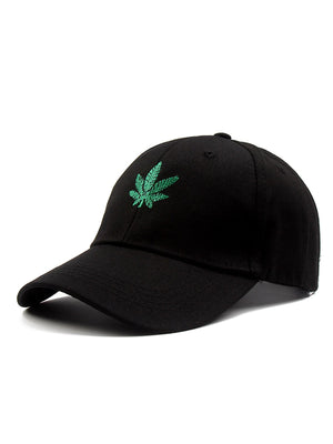 Men's Caps - Leaf Embroidery Baseball Cap