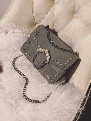 Bags For Women - Faux Pearl Decor Chain Bag