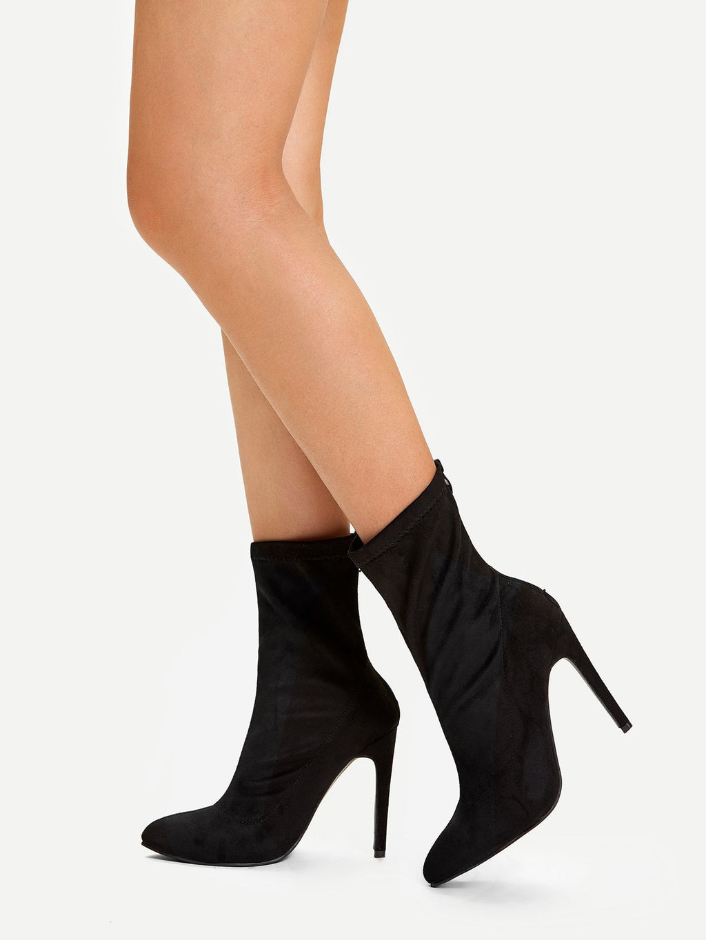 Formal Boots - Back Zipper Stiletto Heeled Boots