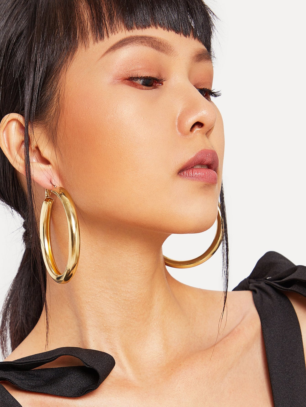 Earrings For Women - Open Metal Hoop Earrings