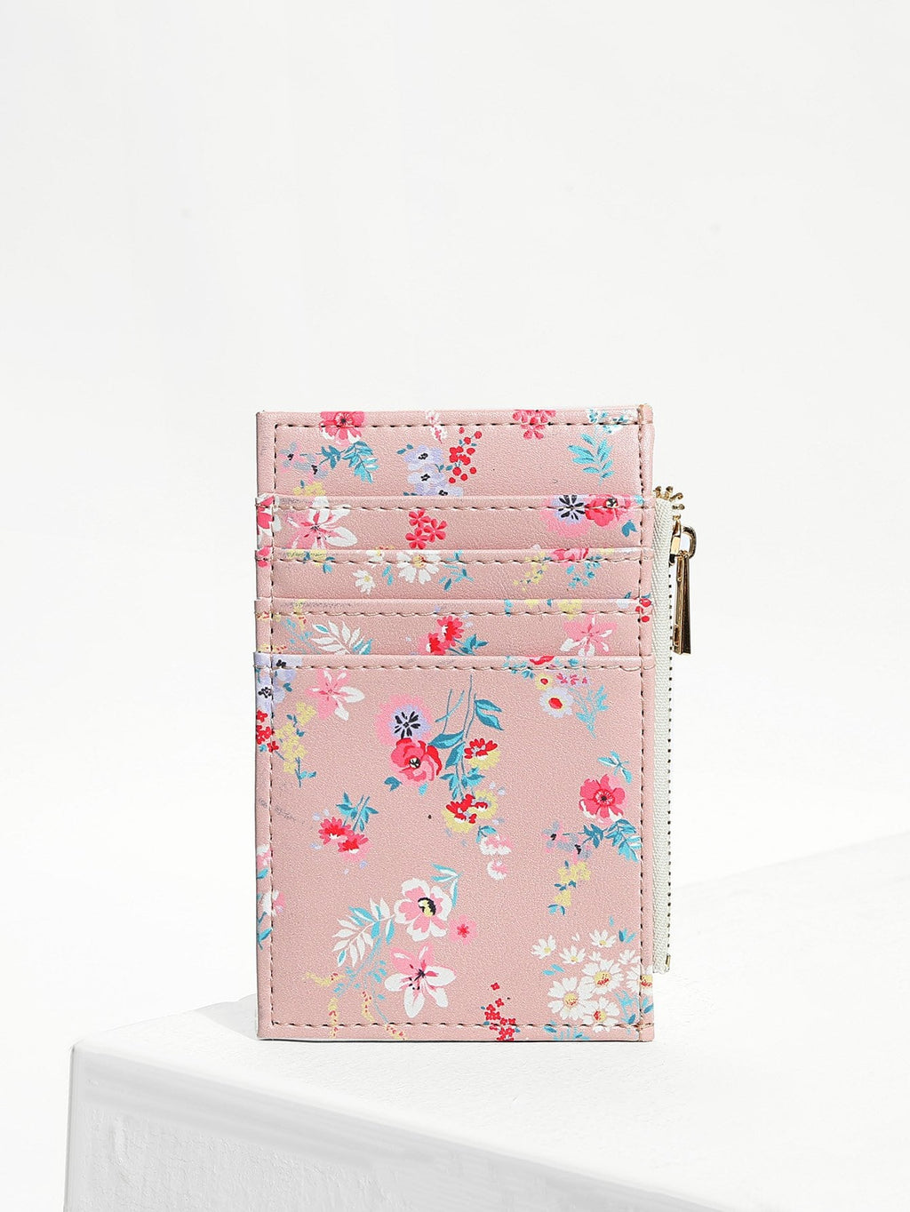 Purse For Women - Flower Print Card Pouch