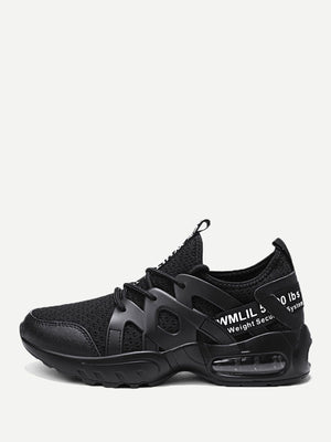 Men's Shoes - Lace-up Front Mesh Sneakers