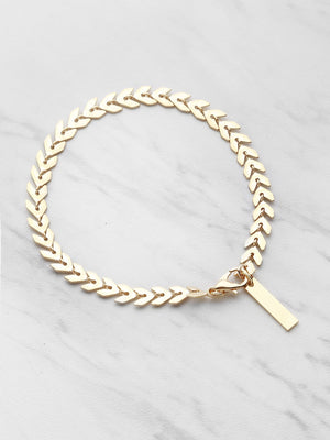 Bracelets For Women - Leaf Shaped Chain Bracelet