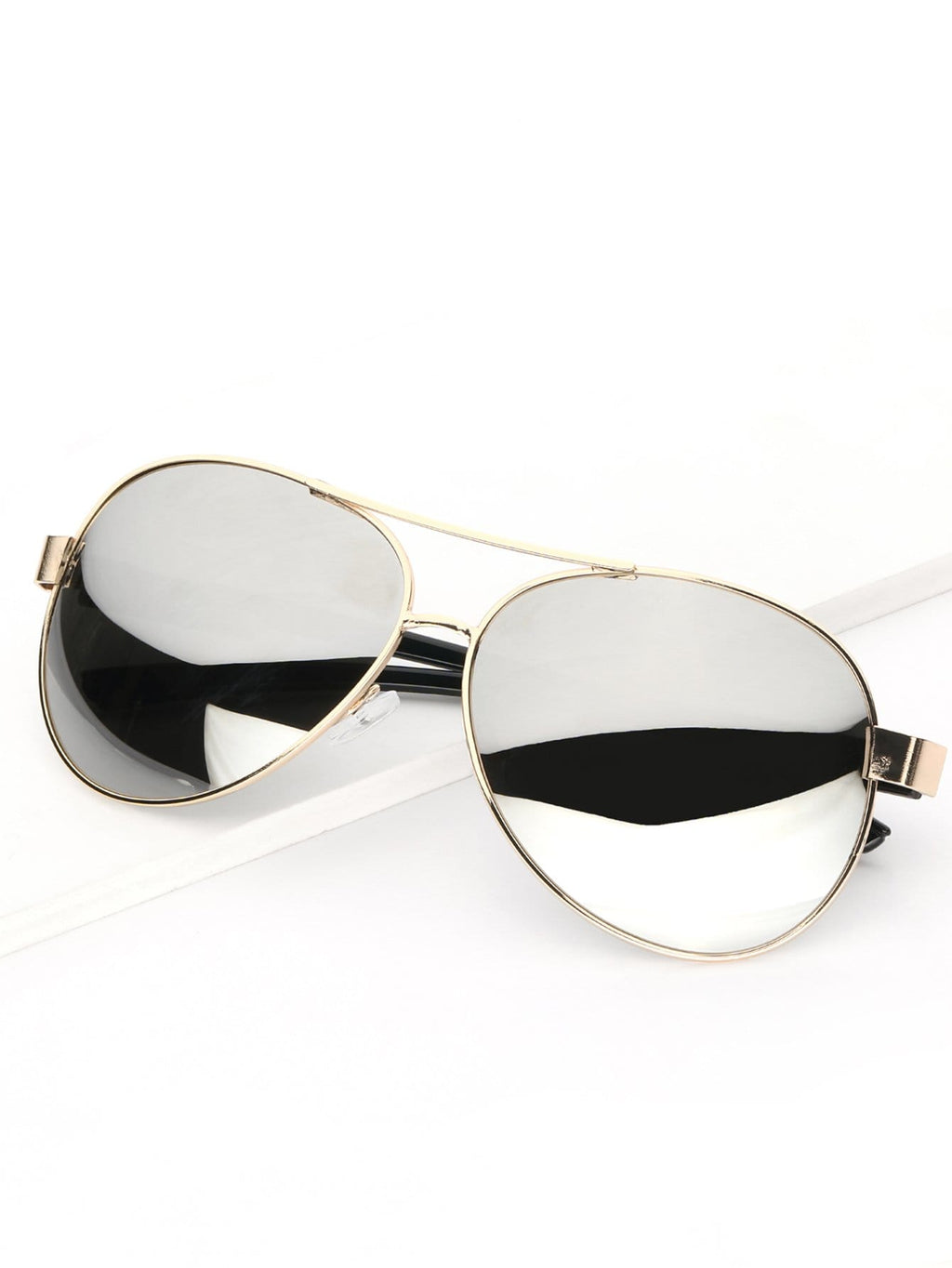 Driving Sunglasses - Men Metal Frame Mirror Lens Sunglasses