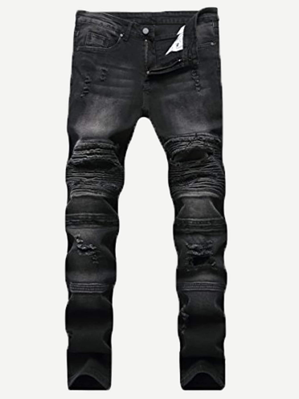 Ripped Jeans - Men Cut And Sew Destroyed Jeans