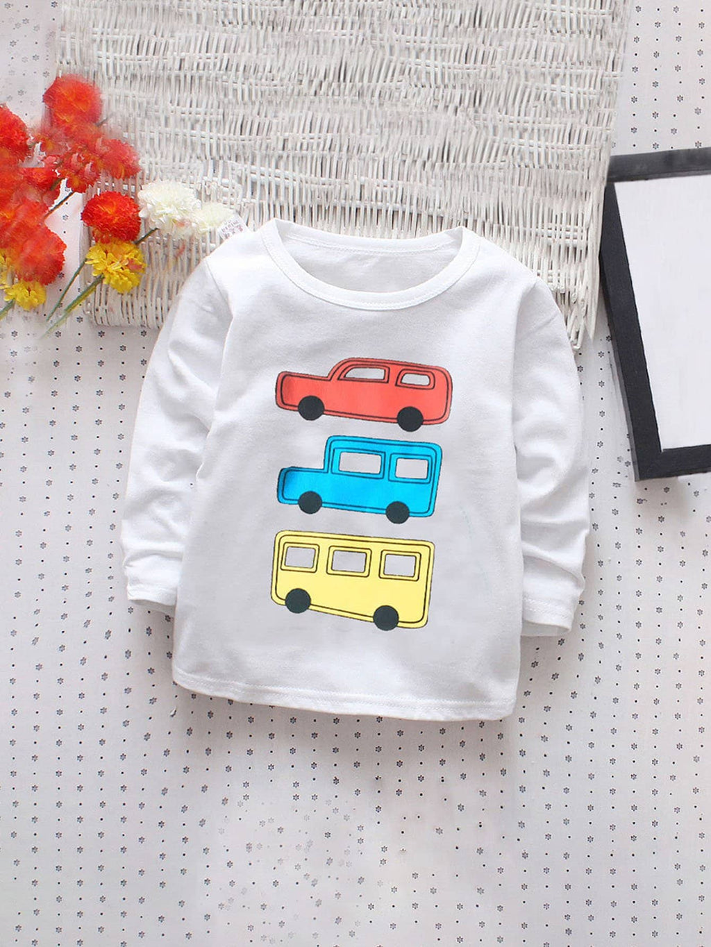 Toddler Boy T-Shirts - Car Pattern Tee