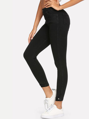 Jeans For Women - Roll Up Hem Jeans