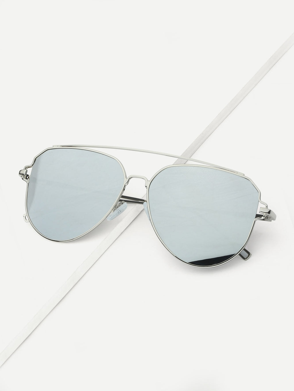 Men's Sunglasses - Top Bar Mirror Lens Sunglasses