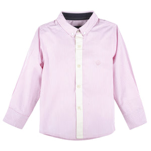 Pink Bengal Stripe Long Sleeve Button-down Shirt