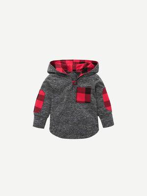 Toddler Boy Sweatshirt - Pocket Detail Hooded Sweatshirt