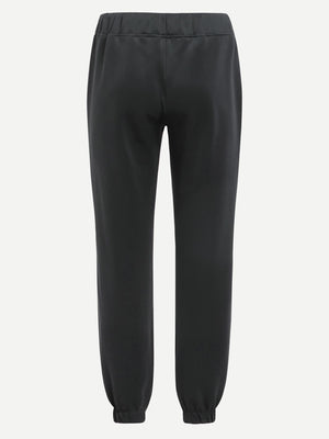 Pajama Pants - Men Contrast Panel Elastic Hem Pants
