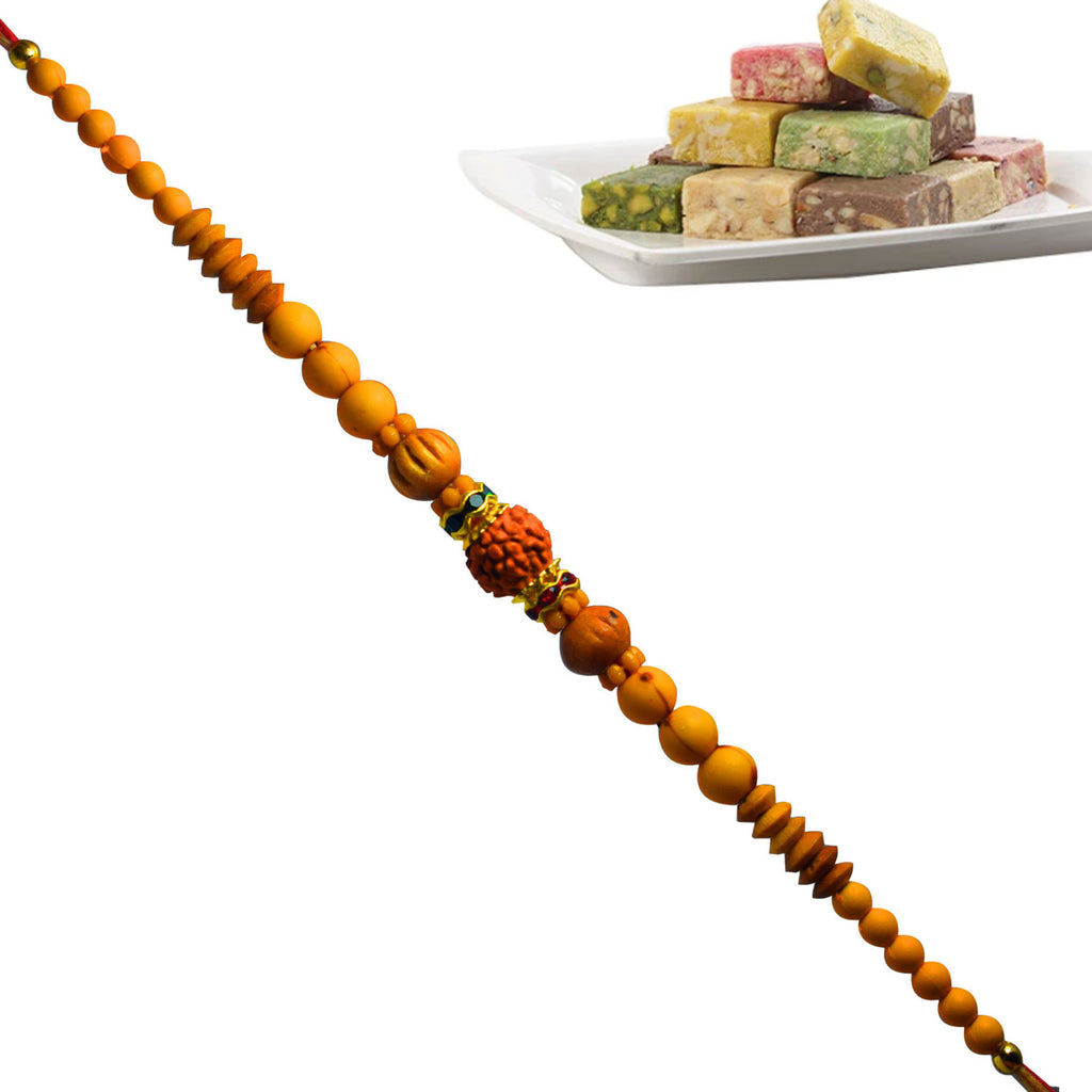 1 Rakhi - Mix Dryfruit Bite Pack with Premium Sukhad Rakhi