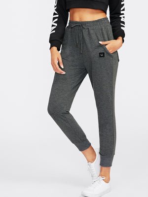 Pants For Women - Patch Detail Jogger Pants