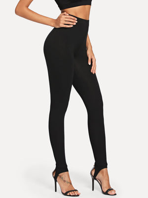 Tights For Women - High Rise Stirrup Leggings